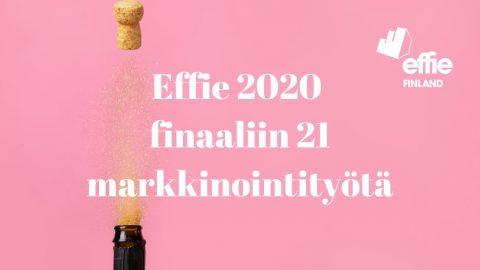 Effie 2020 finaaliin 21 markkinointityötä
