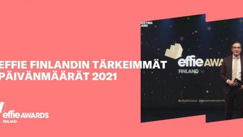 Effie Finlandin tärkeimmät päivänmäärät 2021